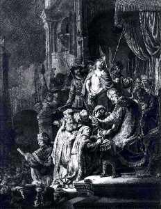 Christ Devant Pilate Et Le Peuple, bnf