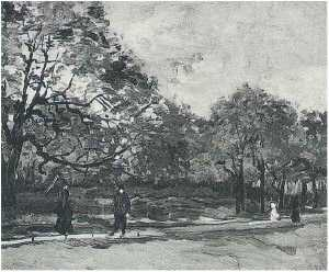 Bois de Boulogne with People Walking, The 3