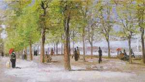リュクサンブール公園でのレーン