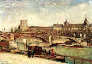 Pont du Carrousel and the Louvre, The