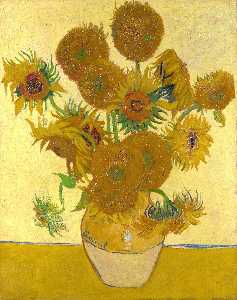 Still Life - Vase with Fifteen Sunflowers