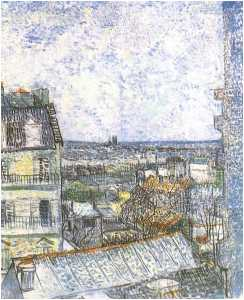 View of Paris from Vincent's Room in the Rue Lepic 2