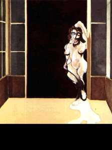 female nude standing in a doorway 1972