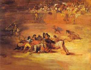 Scene of Bullfight