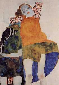 Two Seated Girls