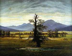 Village Landscape in Morning Light (The Lone Tree)