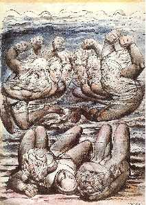 Inferno, Canto VII, 110-127, The Stygian Lake with angry sinners fighting