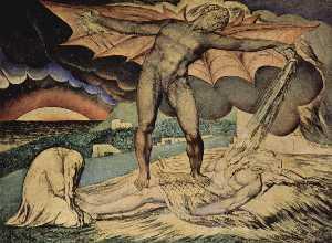 Satan schüttet die Plagen über Hiob aus