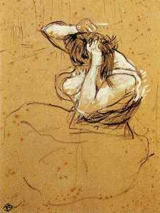 Study for Woman Brushing Her Hair
