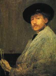 Arrangement in Gray, Portrait of the Painter