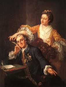 david garrick con su Esposa Eva-Maria Veigel La Violette