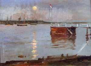 Haikko Jetty in the Moonlight