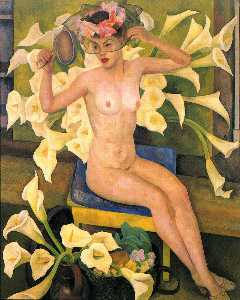 Nude with Flowers (Veiled Woman)