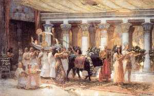 The Procession of the Sacred Bull Anubis