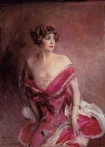 Portrait of Mlle de Gillespie - La Dame de Biarritz
