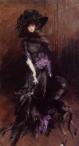 Portrait of the Marchesa Luisa Casati, with a Greyhound