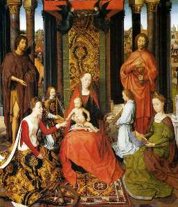 The Mystic Marriage Of St. Catherine Of Alexandria (central panel of the San Giovanni Polyptch)