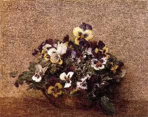 Bouquet of Flowers. Pansies