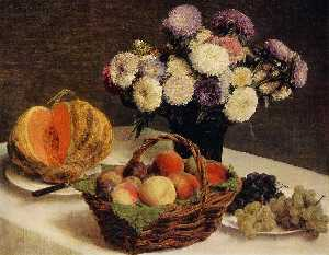 Flowers and Fruit, a Melon
