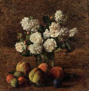 Still Life. Roses and Fruit