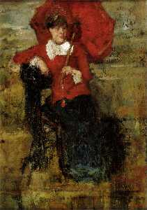 The Lady with the Red Parasol