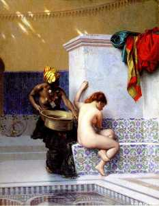 Bain turc ou Bain maure (deux femmes)