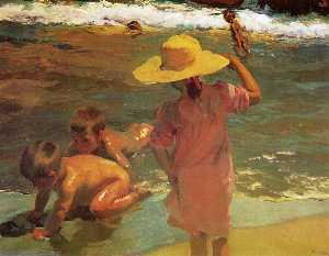 Children on the Seashore