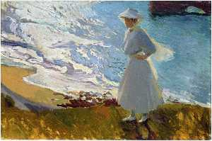 Maria at the Beach, Biarritz
