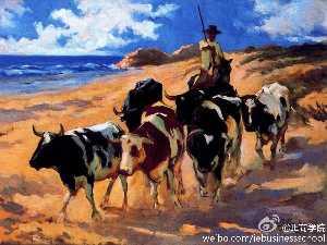 Oxen at the Beach