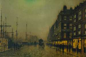 Liverpool Quay by Moonlight