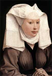 Lady Wearing a Gauze Headdress