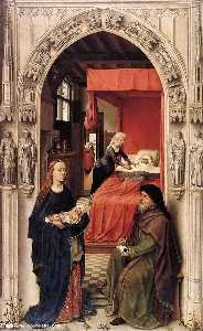 St John the Baptist altarpiece - left panel