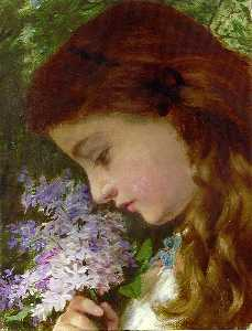 Girl with Lilacs