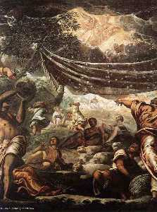 The Miracle of Manna detail