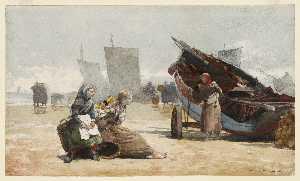 Beach Scene, Cullercoats