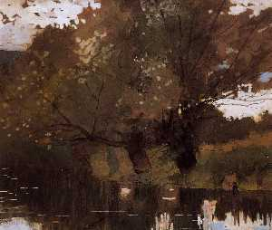 pond und willows , Houghton Bauernhof