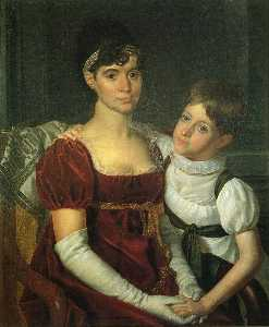 Alida Livingston Armstrong and Daughter