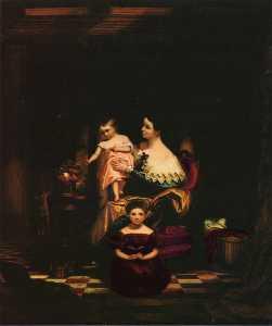 Señorita . Ricardo Do . morse y sus dos hijos ( elizabeth ann y charlotte ) ( también conocido como el goldfish )