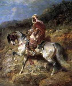 An Arab Horseman On The March