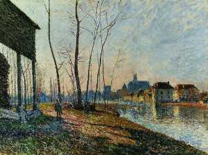 A February Morning at Moret sur Loing