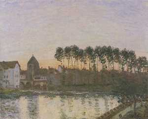 Sunset at Moret