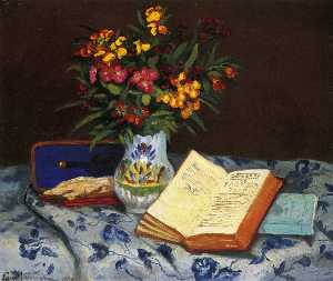 Still Life with Box with Blue Gloves