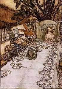 Alice in Wonderland. A Mad Tea Party
