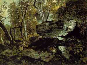 Study from Nature. Rocks and Trees