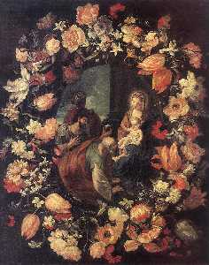 Adoration of the Magi (in Garland)