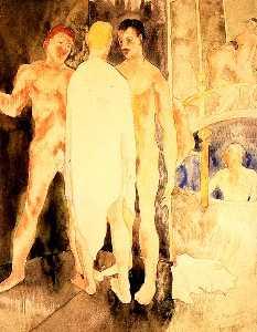 Turkish Bath with Self Portrait