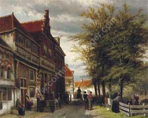 Huizen van Bossu te Hoorn. a busy day at the Slapershaven