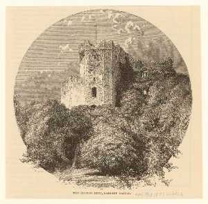 The ruined keep, Cardiff Castle