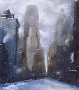 Snowy Evening New York