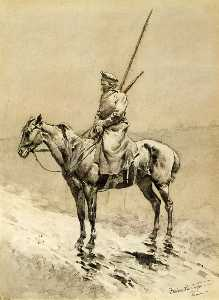 Cossack Picket on the German Frontier